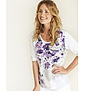 Gelco Floral Print Jersey Top