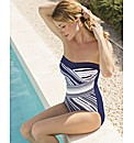 Glumann Multi Stripe Bandeau Swim Suit