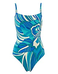 Gottex Floral Print Square Neck SwimSuit