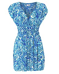 Gottex Floral Print V Neck Dress
