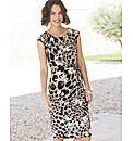 Gina Bacconi Animal Print Dress