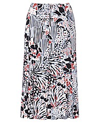 Gray and Osbourn Print Striped Skirt