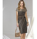 Gina Bacconi Graduated Stripe Dress