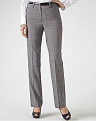 Gardeur Slim Fit Check Trousers 77cm