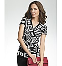 Joseph Ribkoff Geometric Print Top
