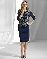 Gina Bacconi Crepe Zip Up Pencil Skirt