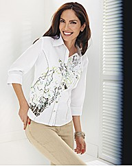 Lebek Placement Floral Print blouse