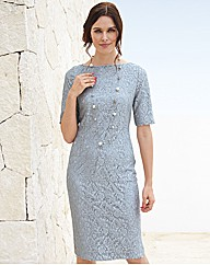 Gray & Osbourn 3/4 Sleeve Lace Dress
