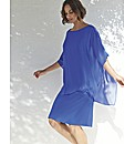 Gina Bacconi Draped Poncho Dress