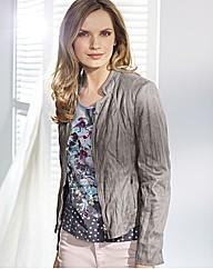 Gerry Weber Mock Leather Crinkle Jacket