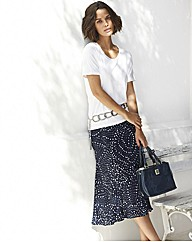 Gray and Osbourn Navy Long Length Skirt