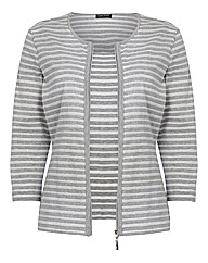 Gerry Weber Stripe Jersey Zip Jacket
