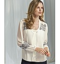 Anise White Chiffon Blouse