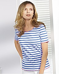 Gray & Osbourn Stripe Jersey Top
