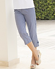 Emreco Crop Gingham Trousers