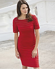Bernshaw Red Ribbed Dress