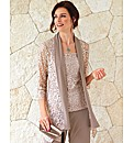 Frank Lyman Long Line Lace Cardigan