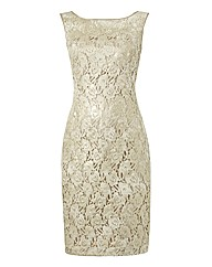 Apanage Lace Foil Sleeveless Dress