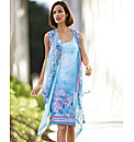 Basler Sea Life Print Chiffon Dress