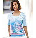 Basler Sea Life Print Top