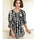Olsen Abstract Print Blouse