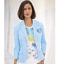 Frank Walder Gingham Button Blazer