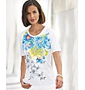 Frank Walder Floral Print Jersey Top