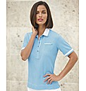Frank Walder Gingham Polo Top