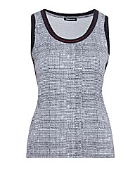 Frank Walder Sleeveless Print Jersey Top
