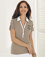 Betty Barclay Short Polo Top