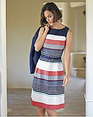 Betty Barclay Multi Stripe Dress