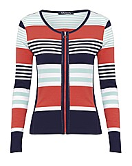 Betty Barclay Multi Stripe Zip Jumper