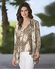 Chesca Jersey Ripple Pleat Cardigan