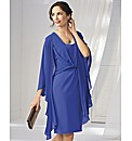 Gina Bacconi Crepe Shift Dress