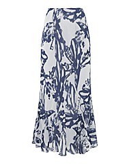 Gina Bacconi Graphic Silk Chiffon Skirt