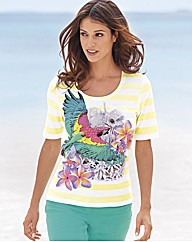 Betty Barclay Parrot Stripe Top