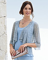 Pomodoro Sequin Waterfall Cardigan