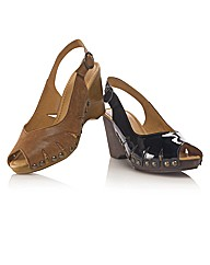 Gabor Open Toe Sling Back Wedges