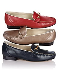 Van Dal Snaffle Trim Leather Loafer