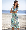 Paisley Print Short Sleeved Sundress