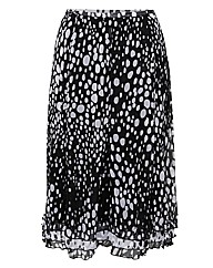 Gelco Abstract Crinkle Georgette Skirt