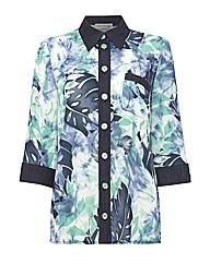 Gray & Osbourn Leaf Printed Over Shirt