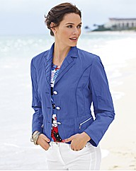 Gelco Crinkle Finish Button Up Jacket