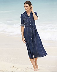 Gray & Osbourn Denim Shirt Dress