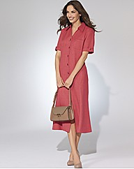 Gray & Osbourn Linen Look Shirt Dress