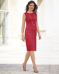 Gina Bacconi Cascade Fitted Dress