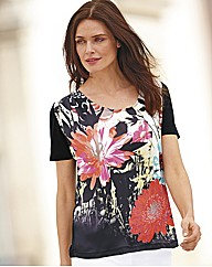 Passport Floral Print Short Sleeve Top