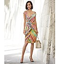 Apanage Jersey Scarf Print Dress