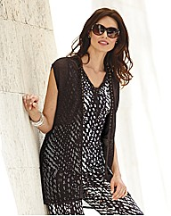 Gelco Sleeveless Bead Detail Cardigan
