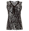 Gelco Print Braided Sleeveless Top